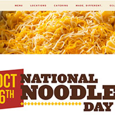 Noodles & Company: Free Wisconsin Mac & Cheese W/ Purchase - Oct 6th