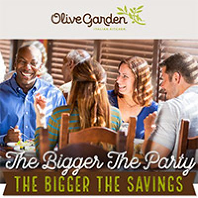 Olive Garden: Save Up To 20% Off - Ends 10/16