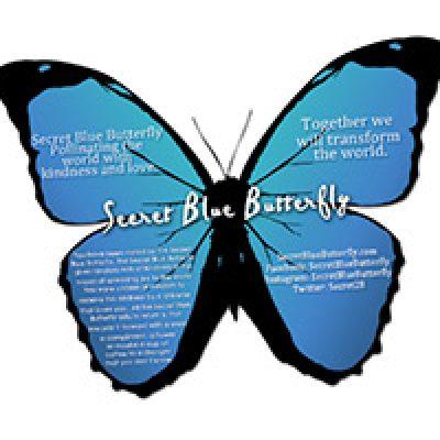 Free Secret Blue Butterfly Cards
