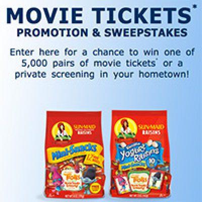 Sun-Maid: Win Movie Tickets