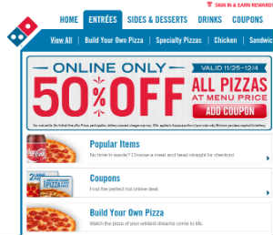 50 off coupon for dominos : Coupon kisses