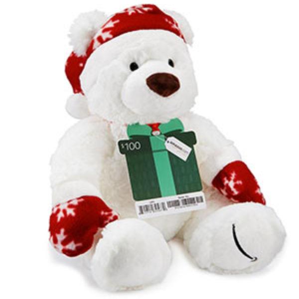 Amazon: Free Holiday Teddy Bear W/ $100 Gift Card Purchase