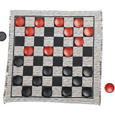 Jumbo Checker Rug Game Just $11.99 + Prime