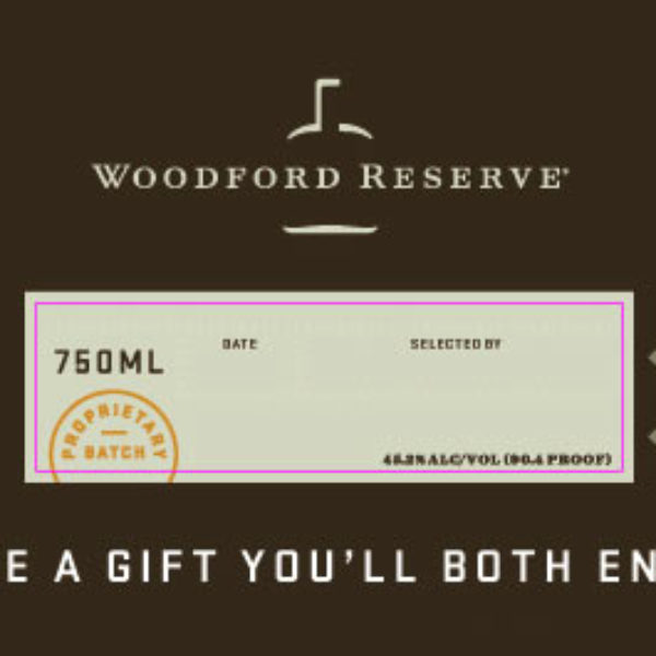 It's just a photo of Gratifying Woodford Reserve Personalized Label Program
