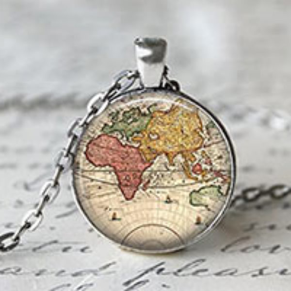 World Map Necklace Just $2.50 + Free Shipping