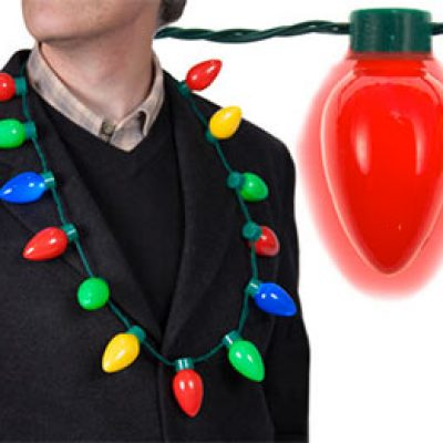 LED Light Up Christmas Bulb Necklace Just $6.99 + Free Shipping