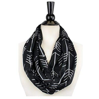 Women's Arrow Patterned Infinity Scarf Just $11.00 + Prime