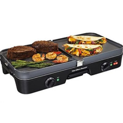 Hamilton Beach 3-in-1 Grill/Griddle Only $29.00 (Reg $59.99)