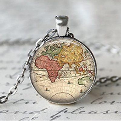 World Map Necklace Just $2.99 + Free Shipping