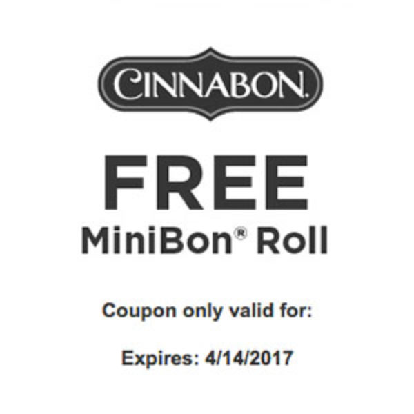 Free Cinnabon MiniBon