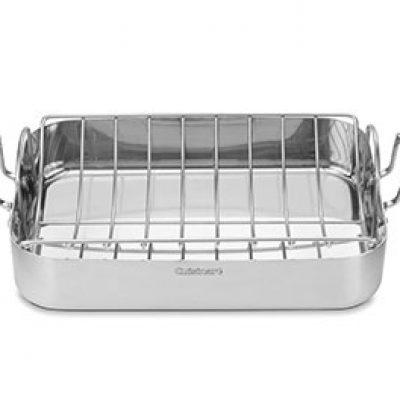 Cuisinart Stainless Rectangular Roaster w/ Rack Just $47.46 (Reg $180) + Prime