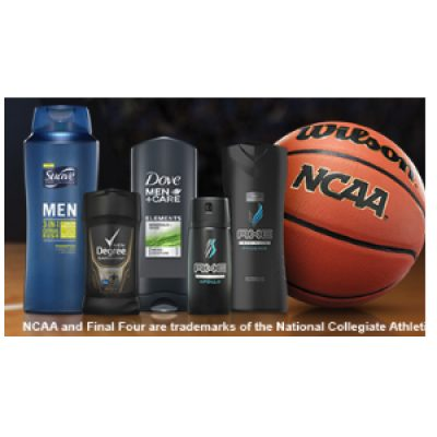 Free Axe, Suave or Dove Men's Samples