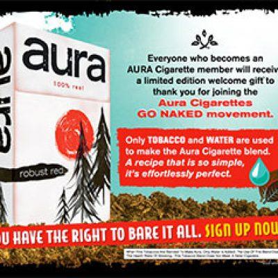 Aura Cigarettes: Free Gift Box