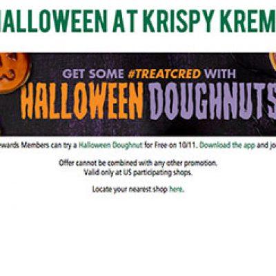 Krispy Kreme: Free Halloween Doughnut - 10/11