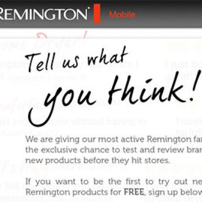 Remington Product Sampling Promotion