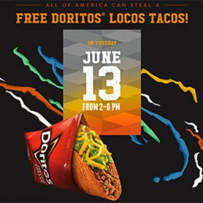 Taco Bell: Free Doritos Locos Taco - June 13
