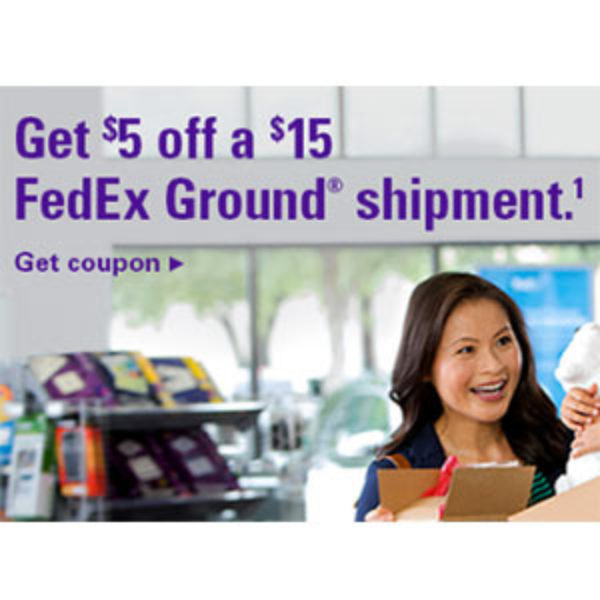 FedEx: $5 Off $15 Ground Shipment