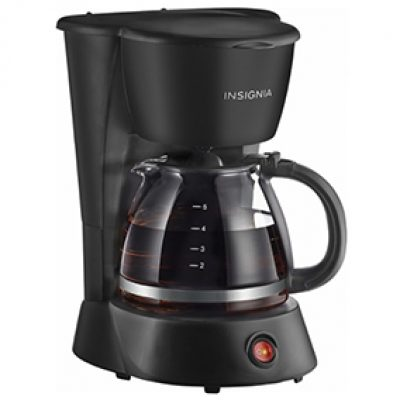 INSIGNIA 5-Cup Coffeemaker Just $5.99 (Reg $14.99)