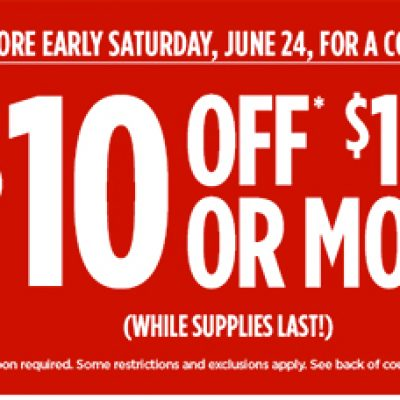 JCPenney: $10 Off $10 Coupon Giveaway - June 24th