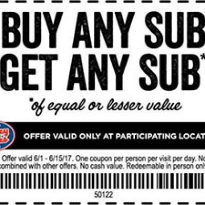 Jersey Mike's: BOGO Sub - Ends 6/15