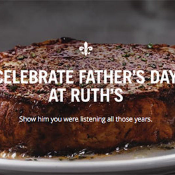 Ruth's Chris: $25 Dining Card W/ Purchase - Father's Day