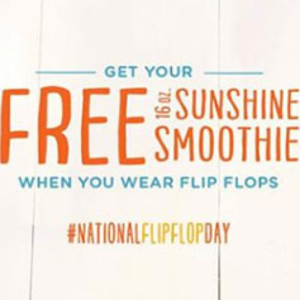 Tropical Smoothie: Free Sunshine Smoothie - June 16th