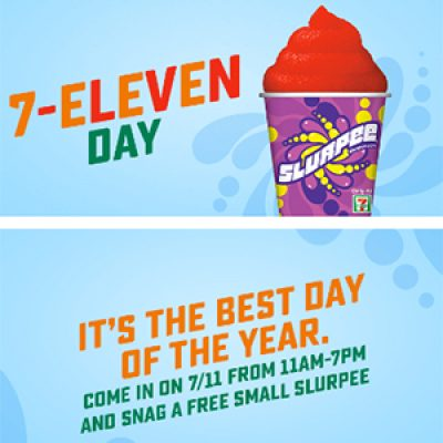 7-Eleven: Free Small Slurpee - 7/11 11am-7pm
