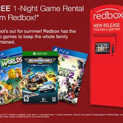 Free 1-Night Redbox Game Rental
