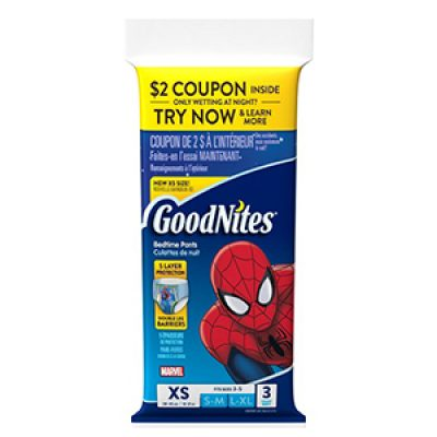 Free GoodNites NightTime Underwear Samples