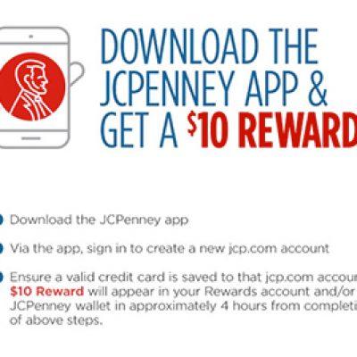 JCPenney: Get $10 Reward W/ App Download