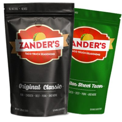 Free Zander's Taco Seasoning Samples