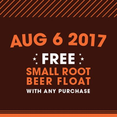 A&W: Free Small Root Beer Float W/ Purchase - Today Only