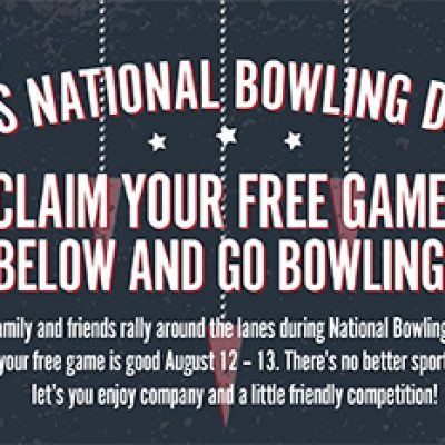 National Bowling Day: Free Game Of Bowling - Aug 12-13