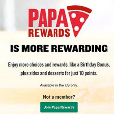 Papa John's: Free Pizza W/ $15 Purchase