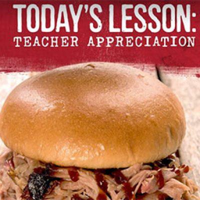 Sonny's BBQ: Free Pork Sandwich for Teachers