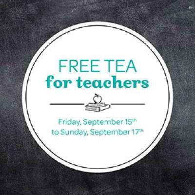 David's Tea: Free Tea For Teachers Sep 15 - 17