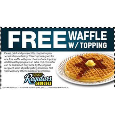Waffle House: Free Waffle W/ Topping