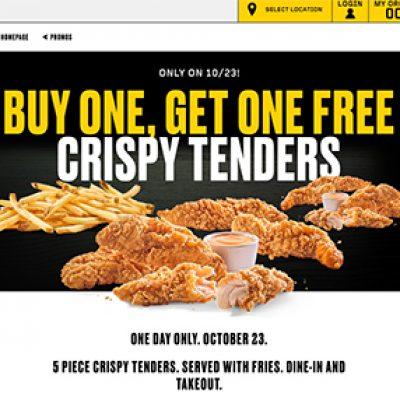 Buffalo Wild Wings: BOGO Free Crispy Tenders - Today Only