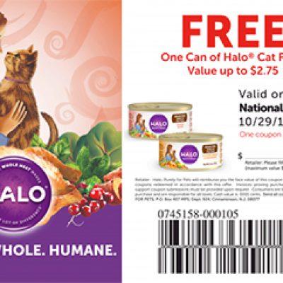 Free Halo Cat Food - 10/29