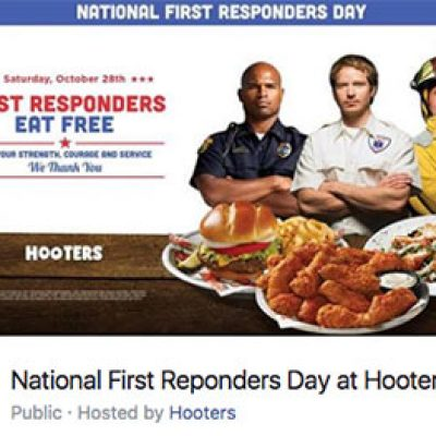 Hooters: First Responders Eat Free - Oct 28