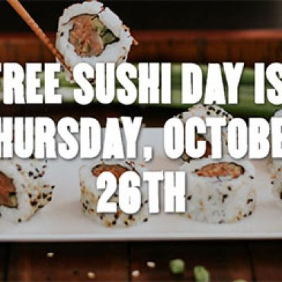 P.F. Chang's: Free Sushi Day - Oct 26
