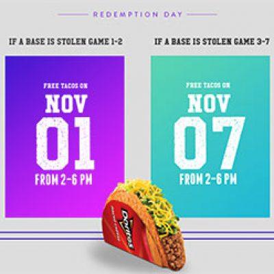 Taco Bell: Free Doritos Taco - Nov 1st