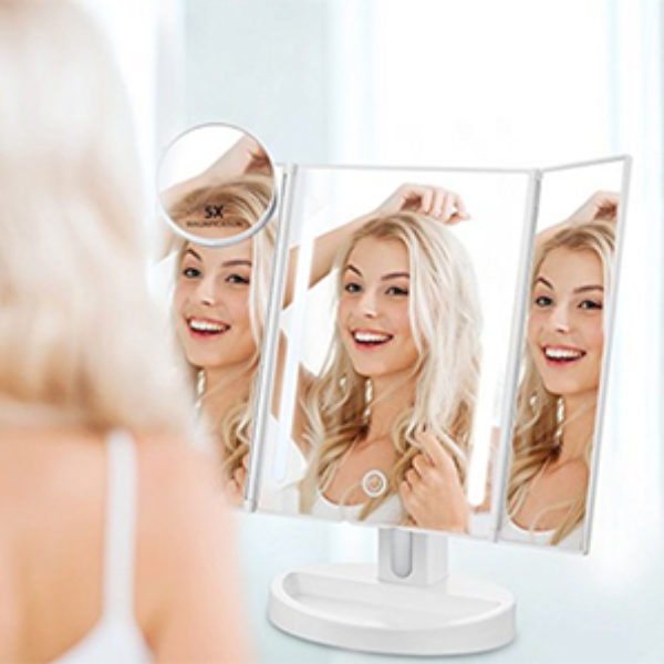 Trifold LED Makeup Mirror Just $16.99