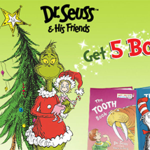 5 Dr. Seuss Books Only $5.95 + Free Shipping