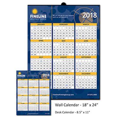 Free Fineline Wall or Desk Calendar
