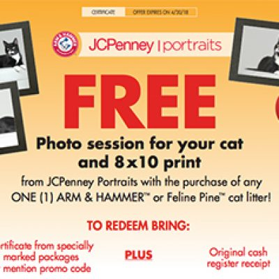 JCPenney Portraits: Free Photo Session For Your Cat