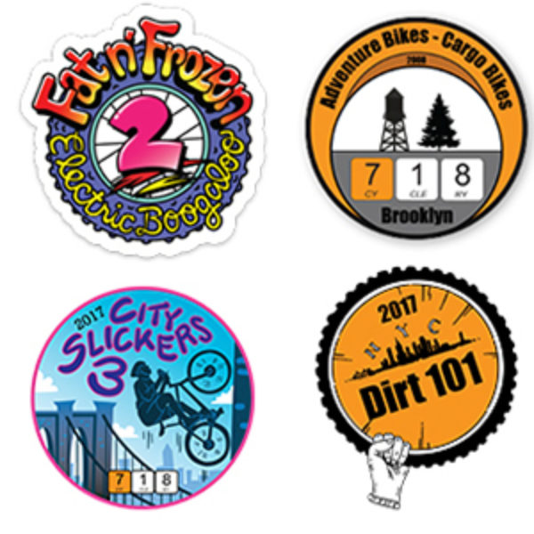Free 718 Cyclery Stickers