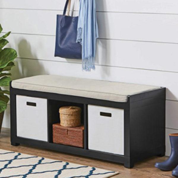 Bhg Storage Magazine: BHG 3-Cube Organizer Bench Just $49.00 + Free Shipping