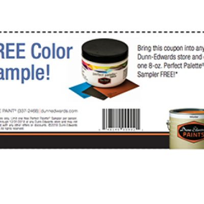 Free Dunn-Edwards Paint Sample