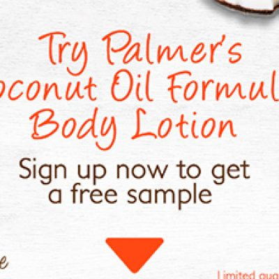 Free Palmer's Coconut Oil Formula Body Lotion